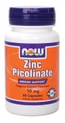 Zinc Picolinate 50 mg 60 caps Now