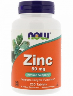 Zinc Gluconate 50 mg NOW 250 Tabs