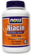 Niacin 500 mg 250 tabs Now