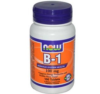 B-1 100mg Now 100 Tabs