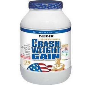Crash Weight Gain клубника 1.5 кг Weider