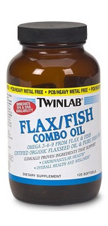 Flax\Fish Combo Oil 120 капс  Twin Lab