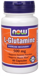 L-Glutamine 500mg Now 60 caps