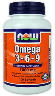 Omega 3-6-9 Now 1000mg 100 caps