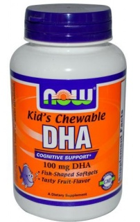 Kids Chewable DHA 100mg 60 Softgels Now
