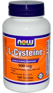 L-Cysteine 500mg 100Tabs Now