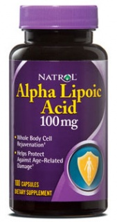 Alpha Lipoic Acid 100 mg 100 капс NATROL