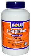 L-arginine 500 mg 250 Caps Now