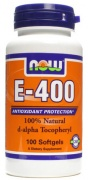 E-400 100% Natural d-alpha tocopheryl Now 100softgels