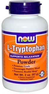 L-tryptophan 950 mg Powder free 57g Now