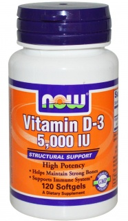 Vitamin D-3 5000 IU 120 caps Now