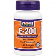E-200 Mixed Tocopherols 100капс Now