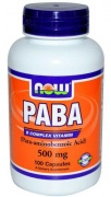 Paba 500 mg 100 caps Now