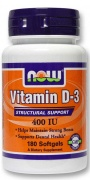 Vitamin D-3 400 IU 180 caps Now