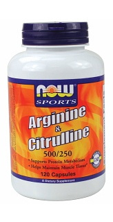 Arginine + Citrulline 500mg/250 -120 caps