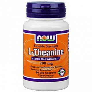 Theanine 200 mg 60 Tabs Now