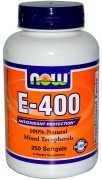 E-400 Mixed Tocopherols Now 250 softgels