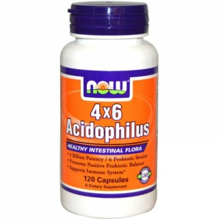 Acidophilus 4x6 Now 120 caps
