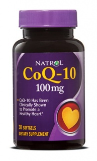 CoQ-10 30 softgels 100 мг Natrol