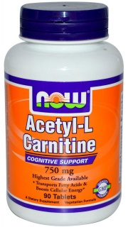 Acetyl L-Carnitine 750 mg 90 tab Now