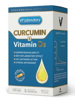 Curcumin & Vitamin D3 VP-Lab 500mg 60 caps