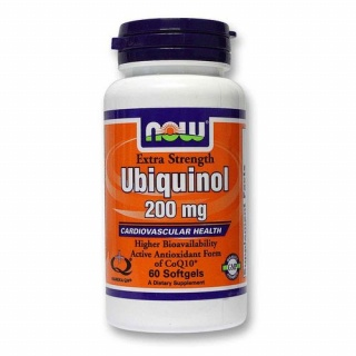 Ubiquinol 200 mg Now 60 caps