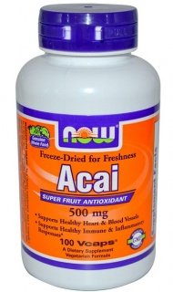 Acai 500mg Now 100 caps