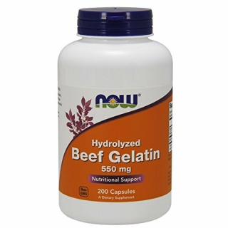 Beef Gelatin 550mg 200caps Now