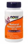 Natural Resveratrol 50 mg Now 60 Caps