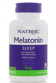 Melatonine 3 mg 240 Tabs Natrol