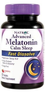 Melatonin Calm Sleep 60 Tabs Natrol