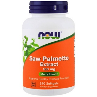 Saw Palmetto Extract 160mg 240 caps Now