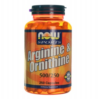 Arginine & Ornitine 500/250 Now 250 Caps