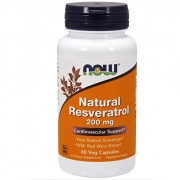 Natural Resveratrol 200 mg Now 60 Caps