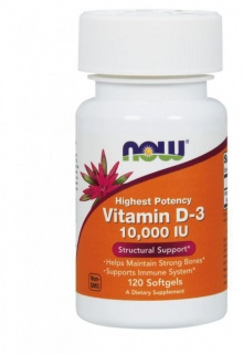 Vitamin D-3 10000 IU 120 caps Now