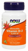 Vitamin D-3 5000 IU 120 Chewable Now